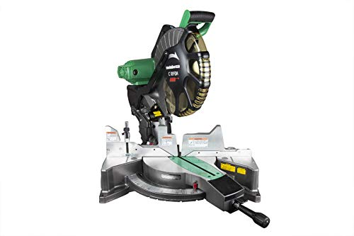 Metabo HPT 12-Inch Compound Miter Saw, Laser Marker System, Double Bevel, 15-Amp Motor, Tall Pivoting Aluminum Fence (C12FDHS) (Renewed)