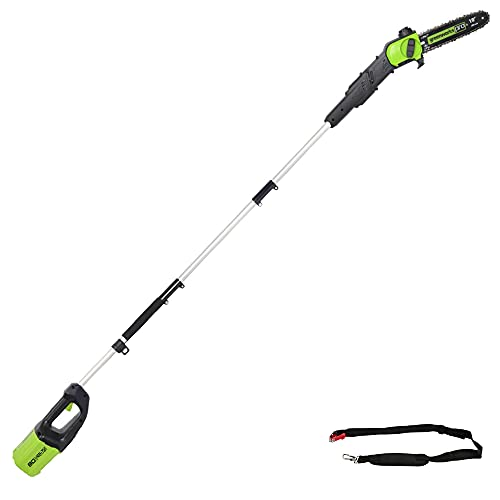 Greenworks Pro 80V 10 inch Brushless Cordless Polesaw, Tool Only, PS80L00
