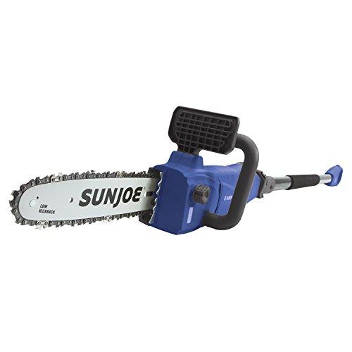 Sun Joe SWJ807E-SJB 10 inch 8.0 Amp Electric Convertible Pole Chain Saw, Dark Blue