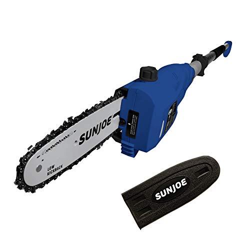 Sun Joe SWJ802E-SJB 9 FT 6.5 Amp Electric Pole Chain Saw with Adjustable Head, Dark Blue