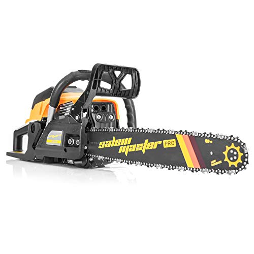 SALEM MASTER 6220H 62CC 2-Cycle Gas Powered Chainsaw, 20-Inch Chainsaw, Handheld Cordless Petrol Gasoline Chain Saw for Farm, Garden and Ranch