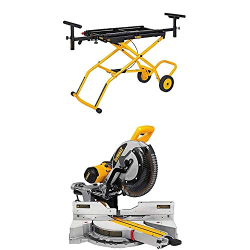 DEWALT DWS779 12' Sliding Compound Miter Saw and DWX726 Rolling Miter Saw Stand