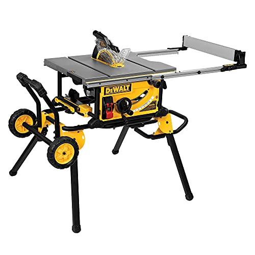 DEWALT 10-Inch Table Saw, 32-1/2-Inch Rip Capacity (DWE7491RS), Yellow/Black/Silver