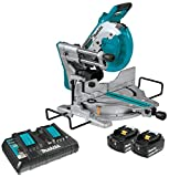Makita XSL06PT 18V x2 LXT Lithium-Ion (36V) Brushless Cordless 10' Dual-Bevel Sliding Compound Miter Saw with Laser Kit (5.0Ah)