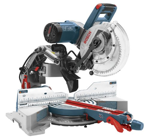 Bosch CM10GD Compact Miter Saw - 15 Amp Corded 10 Inch Dual-Bevel Sliding Glide Miter Saw with 60-Tooth Carbide Saw Blade