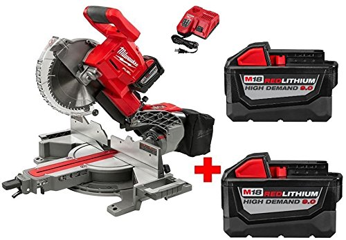 Milwaukee M18 18-Volt FUEL Lithium-Ion Cordless Brushless 10 in. Dual Bevel Sliding Compound Miter Saw Kit