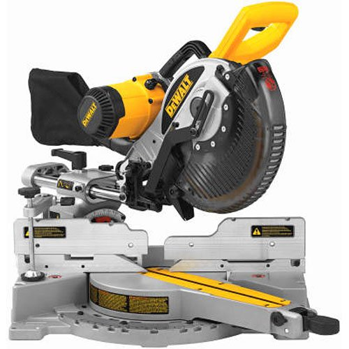 DEWALT 10-Inch Sliding Compound Miter Saw, Double Bevel (DW717)