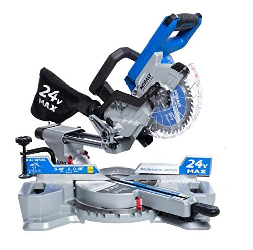Kobalt 7-1/4-in 24-Volt Max Dual Bevel Sliding Compound Cordless Miter Saw (Tool Only)